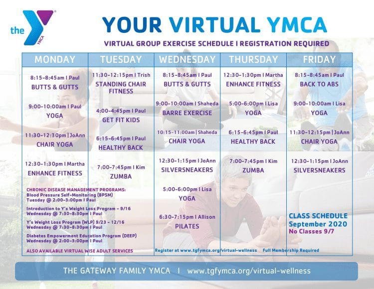 Your Virtual YMCA Sep